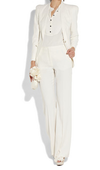 White Wedding Suits | Carrie Bradshaw Wedding Suit | Skirt Suits