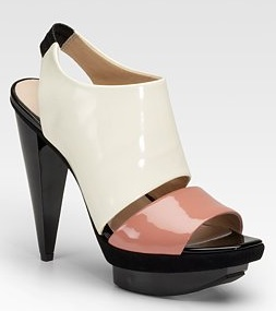 Pour La Victoire Patent Leather Sandals