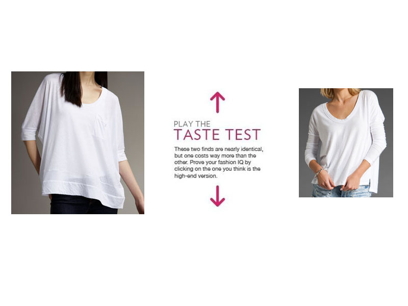 985a5f0f3984a Test your fashion IQ with all of our Taste Tests. Shop our guides to the  best t-shirts to hide your tummy and the best evening tops. Join our e-mail  list ...