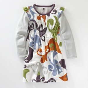 Tea Colllection Songbird Flutter Sleeve Layered Dress