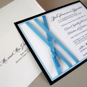 Amber Design Ice Blue Marina Invitation