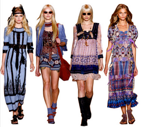 Anna Sui Dresses On Sale Large Editorial Image