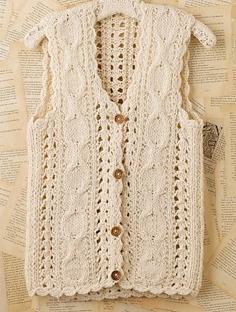 Free Crochet Pattern For Sweater Vest : Womens Vests Sweater Vests Crochet Sweaters