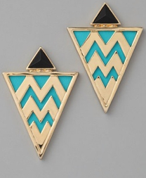 House of Harlow 1960 Tribal Leather Earrings