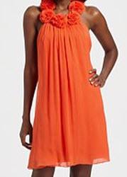 Jay Godfrey Chiffon Rosette T Back Dress