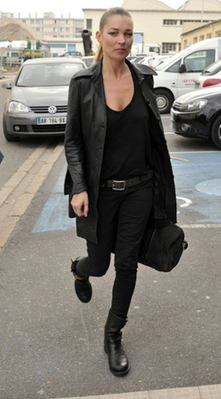Kate Moss in her Rag & Bone Boots