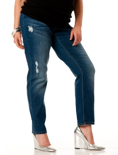 Loved By Heidi Klum Plus Size Under Belly Super Stretch Slim Leg Maternity Jeans