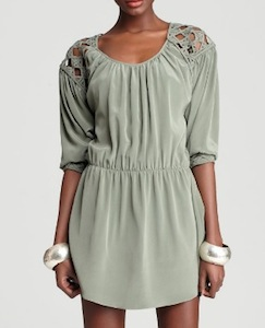 Madison Marcus Long Sleeve Cut Out Dress