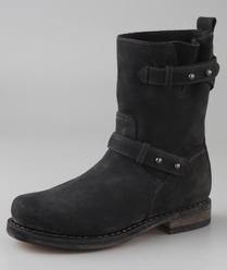 Rag & Bone Nubuck Moto Boots