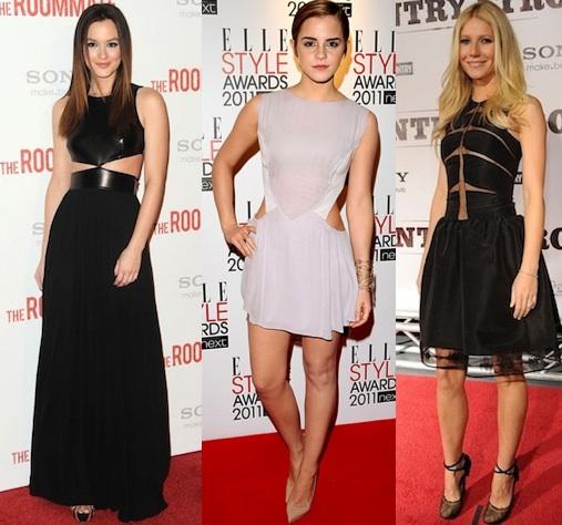 Celebrities' Cut Out Dresses