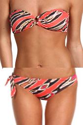 Tibi Zebra Ikat Bikini