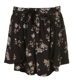 Topshop Snow Floral Skirt