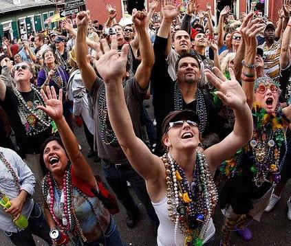 Mardi Gras Flash for Beads Photos