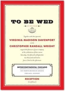 To Be Wed Signature Invitation