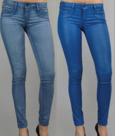 Bleulab Reversible Coated Surve Legging in Azurite Cayman Blue