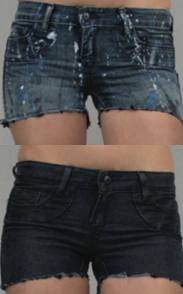 Bleulab Shortcut Reversible Shorts in Paint Splatter