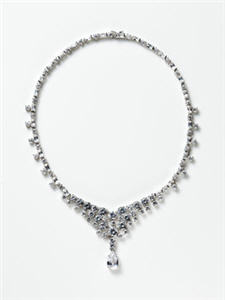 CZ by Kenneth Jay Lane Zirconia Bib Necklace