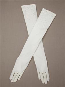 Carolina Amato Matte Satin Opera Glove