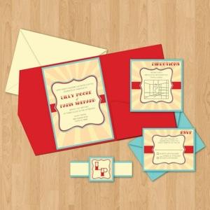 Circus theme wedding invitations