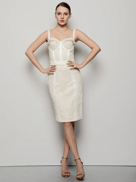 Dolce & Gabbana Mesh Paneled Bustier Dress