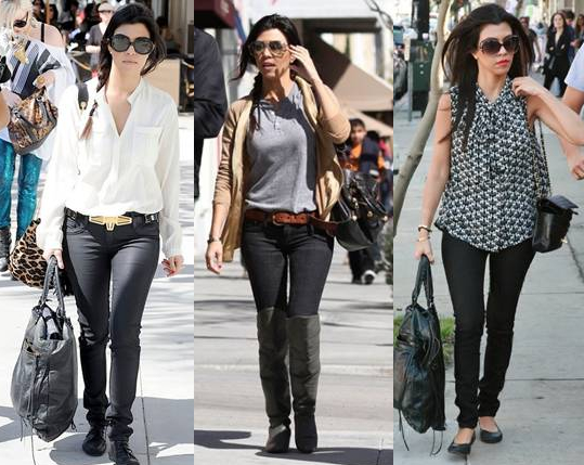 Kourtney Kardashian in her Bleulab jeggings