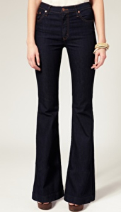 Nobdoy High Waisted Flared Jeans