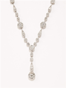 "Odelia Jewelry Diamond Flower ""Y"" Necklace"