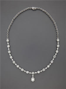Odelia Jewelry Diamond Flower Link Pendant Necklace
