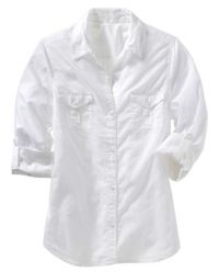 Old Navy Lightweight Roll-Up Camp Shirt