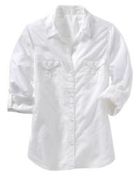 Old Navy Lightweight Roll-Up Camp Shirt