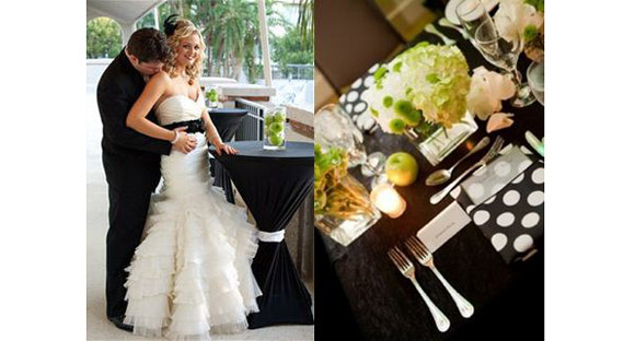 real weddings polka bridesmaids