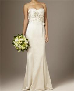 Strapless Rosette Wedding Dress