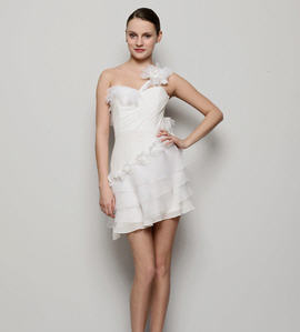 Temperley London Silk Chiffon Mini One-Shoulder Alisha Dress