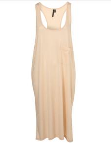 Topshop Nude Pocket Vest Dress