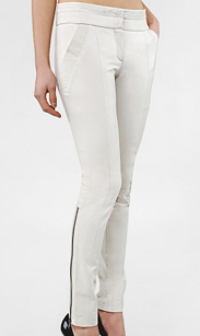 Womens Pants | White Pants | Ankle Zip Pants
