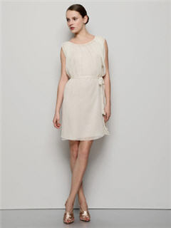 Alberta Ferretti crinkle silk chiffon pleated dress