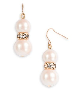 kate spade new york 'metropolitan pearls' drop earrings
