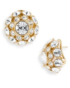 kate spade new york 'putting on the ritz' dome earrings