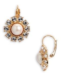 kate spade new york 'tuxedo pearls' earrings