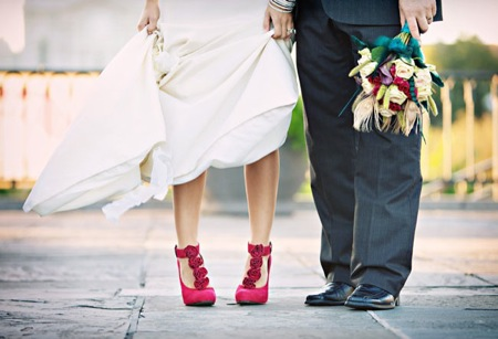 redweddingshoes la