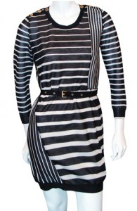3.1 Phillip Lim Keyhole-Back Striped Sweater Dress
