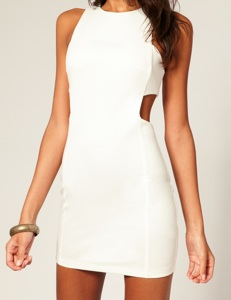 Turns Heads At Your Reception And After Party In A Y White Cut Out Dress