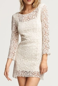 American Retro Long Sleeve Katy Open Lace Dress
