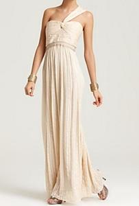 BCBGMAXAZRIA One-Shoulder Gown