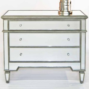 Cary Chest Silver Mirrored 3-Drawer Chest