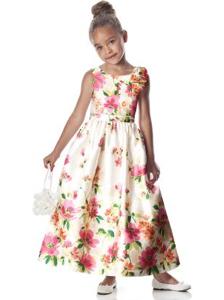 Dessy Nantucket Floral Flowergirl Dress