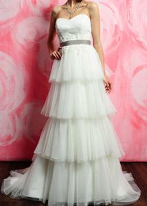 Eden Tiered Strapless Wedding Gown