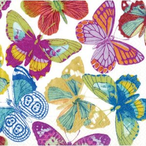Entertaining with Caspari Butterfly Lunch Napkins