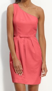 Glint One Shoulder Faille Dress