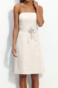 Glint Strapless A-Line Faille Dress